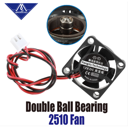 2510 Fan 3D Printer Small Cooling Dual Ball Bear 24V